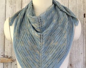 Baby Alpaca and Cotton Soft Striped Shawl