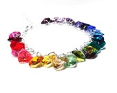 Reserved for Melanie - Rainbow Swarovski Crystal Bracelet and Earrings