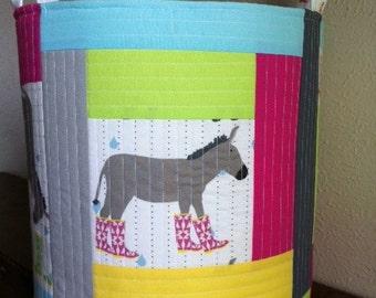 Fabric organizer bin basket container