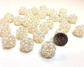 16 mm AA Natural White Cluster Ball Freshwater Pearl - Perfect for Bridal Wedding Jewelry (G3654W5Q5)