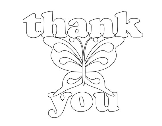 coloring pages thank you card - photo#26