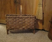 Wool Drying Basket Handwoven Primitive Historical Reproduction,  Wool Carding, Sheep Sheering, Wool Processing, Rug Hooking