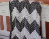 Chevron Stripe Baby Blanket Crochet Pattern - INSTANT DOWNLOAD!