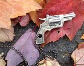 Western Style Vintage Cap Gun Pistol Necklace