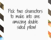 Double sided Character Pillow, cushion, plush