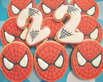 Spiderman - sugar cookie favors
