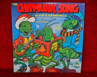The CHIPMUNKS - The Chipmunk Song - 1970's Vintage Vinyl Record Album