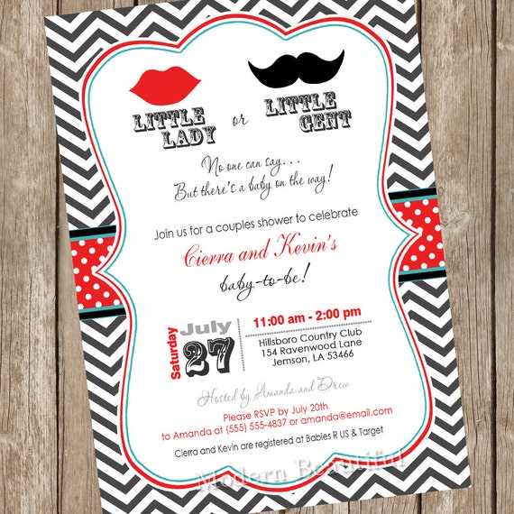 Lips And Mustache Gender Reveal Baby Shower By Modernbeautiful