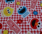 1M Japanese cotton fabric sesame street printed one yard
