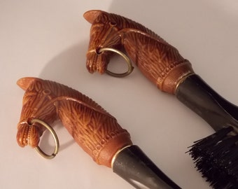 Vintage Shoe Horn Clothes Brush Kit