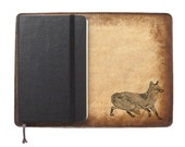 Moleskine Leather Notebook Cover [Large & Pocket Sizes][Customizable][Free Personalization] - Fox