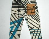 Sweet Luka Mo Organic Black/White/Teal Geometric Leggings