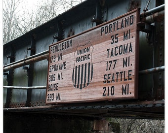 Train bridge photography, Take me to Seattle, bridge, office decor, fine art print