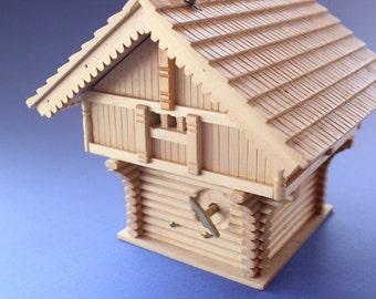 Wooden Swiss Chalet music box, Chalet, Music Box