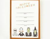 Halloween Creatures Invitations 8pcs