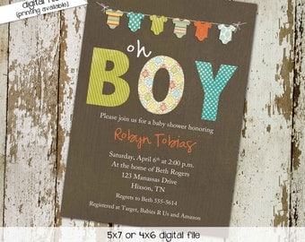 baby boy shower invitation bunting bodysuit banner sprinkle diaper couples stock the library oh baby bash item 1284 shabby chic invitations