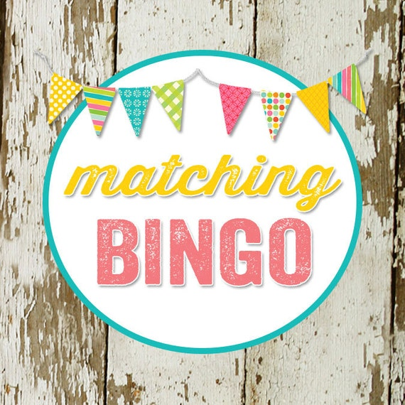 BINGO game card for baby or bridal shower, made to match any invitation, digital, printable file