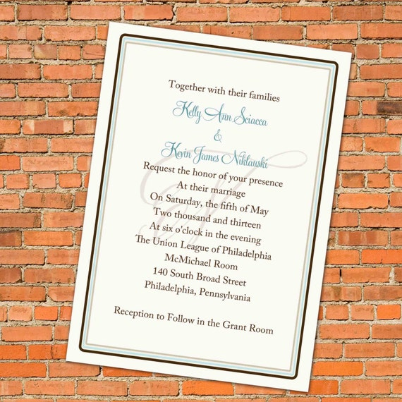 wedding invitations with initial, ANY COLORS and FONTS, digital, printable (item 333)