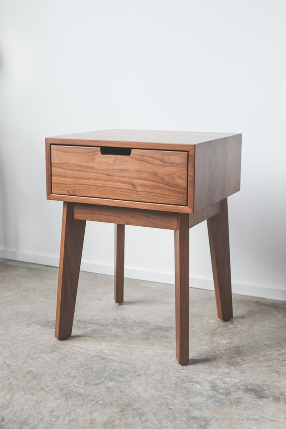 Bedside Stand ventura nightstand / bedside table solid walnut tapered