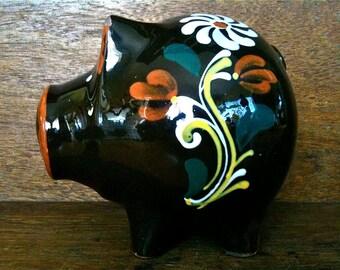 Vintage English Piggy Bank Money Store Circa 1970's / English Shop