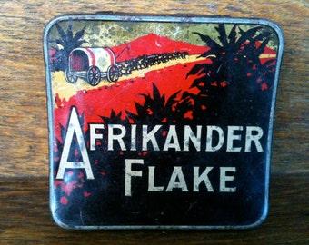 Vintage Tin Afrikander Flake Tobacco Collectable circa 1950/60's / English Shop