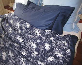 twin xl duvet dorm room boys bedding navy blue white teen boys