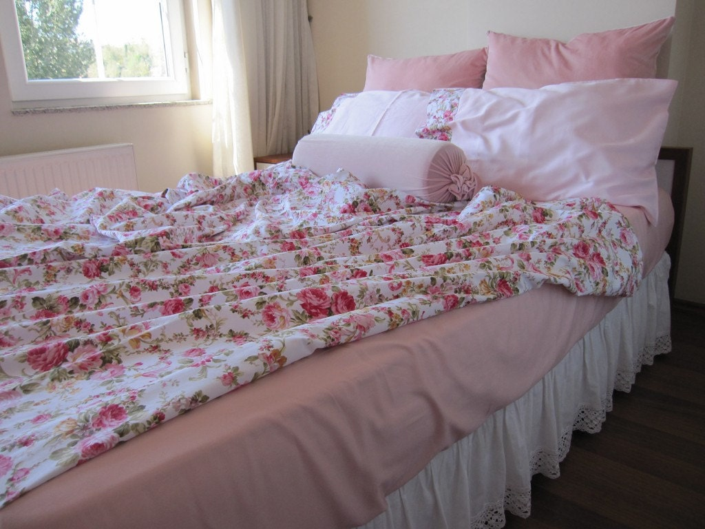 Queen Shabby Chic Bedding Bed Sheet Sets Flat And By