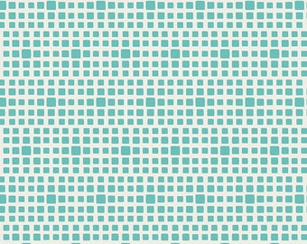 Squared Elements Turquoise by Pat Bravo for Art Gallery Fabrics