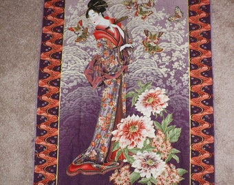 Tea house wall quilt, finished size will be 36x42