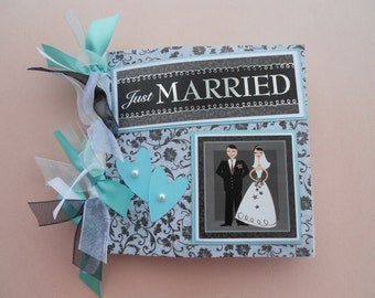 Wedding gift  Wedding Day Memories pre made scrapbook album bridal mother of the bride mother of the groom bridal shower gift