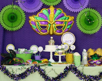 DIY, Mardi Gras Party or Birthday PARTY PACK