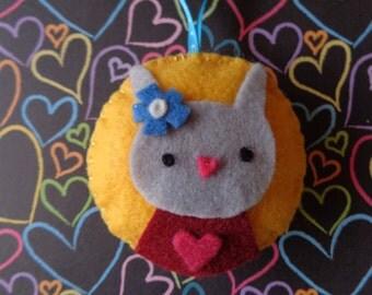 Mrs. Grey Bunny Felt Ornament by Pepperland