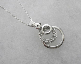 Infinity Love Circles with  Swarovski Crystals Necklace
