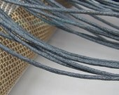 10M Deep Grey Wax Cord, Very Fine 1.5mm, Super Thin Rope Strand
