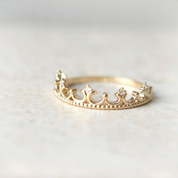tiara ring in gold plated sterling silver by laonato on etsy