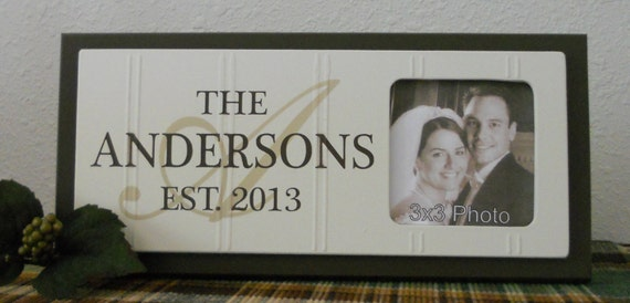 Personalized Picture Frame With Family Name Quote Family: Personalized Last Name Date Picture Established Sign Frame