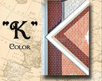 Letter K Alphabet Photography Color 4 x 6 Photo Letter Unframed