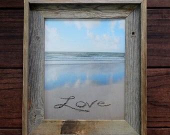 LOVE Sand Writing