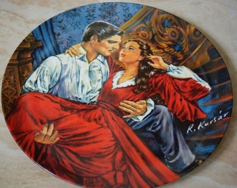 "1986 Gone With the Wind ""Scarlett and Rhett: The Finale"" Knowles Collector Plate"