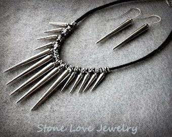 Spike Necklace Set