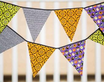 SALE - Halloween Fabric Flag Bunting