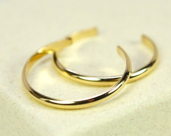 Toe Rings in Gold Fill, Set of Two Simple Everyday Dainty Handmade Jewelry Kristin Noel Designs