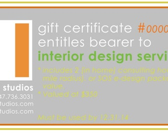 Gift Certificate for Design Services
