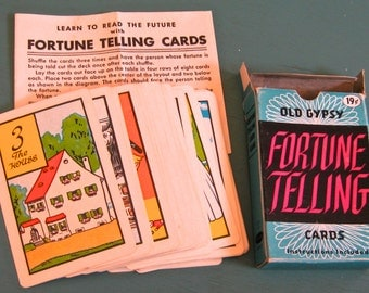 Take 20% Off Old Gypsy Fortune Telling Card Deck With Instructions