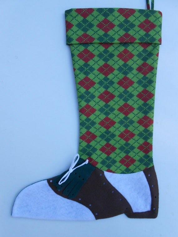 Knit Argyle Christmas Stockings