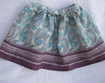 Deep Grape Colored Paisley Skirt in Size 3T