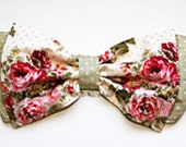Garden and Dots Print Bow Bandeau