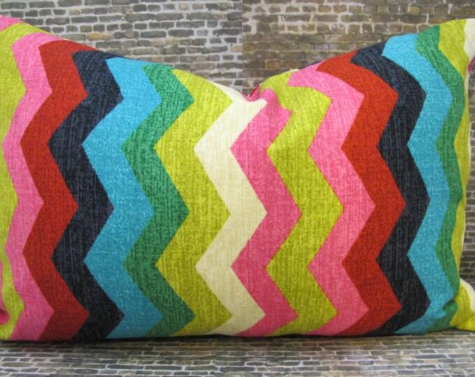 Sale Designer Pillow Cover -  10 x 20, 12 x 16, 12 x18 -  Panama Wave Desert Flower