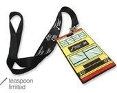 Red Bus Hang Tag  (a bus tag with lanyard)