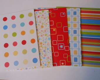 Set of 5 Bright Basic Blank Notecards with Envelopes #9127